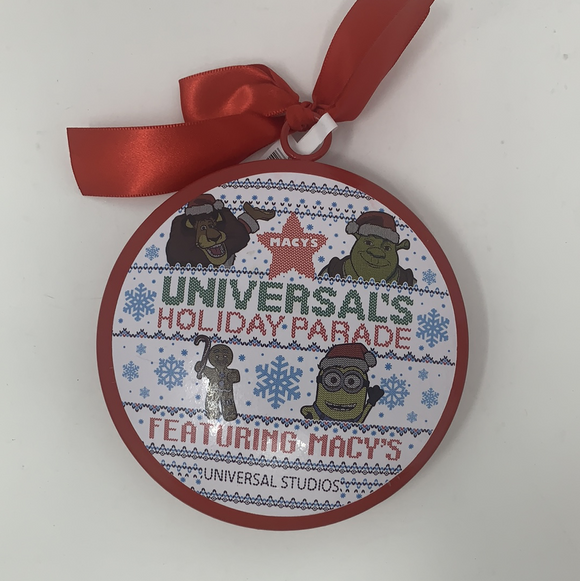 Universal Studios - 2019 Holiday Parade Featuring Macy's Red Metal Ornament - Pixiedust Shopper