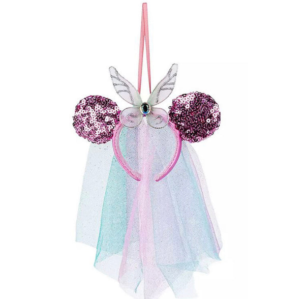 Disney Sequin Butterfly Tulle Minnie Ear Ornament