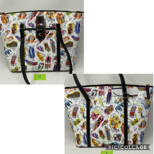 Disney Dooney and Bourke Ink & Paint Tote Purse Splash Mountain Brer Rabbit and Brer Fox Placement