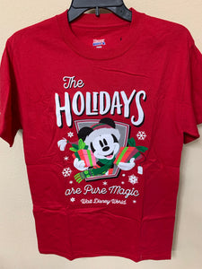 Disney World The Holidays are Pure Magic Mickey Adult Shirt
