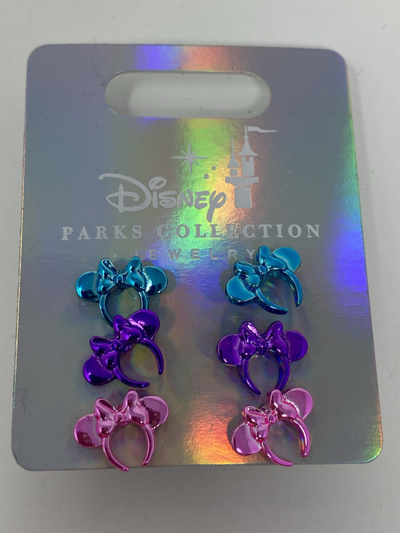 Disney Parks Collection Minnie Ear Headband 3 Pack of Earrings