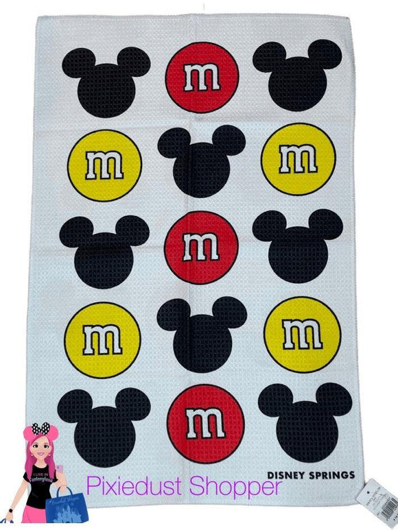 Disney Springs M&M and Mickey Kitchen Towel - Pixiedust Shopper