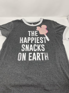 Disney The Happiest Snacks on Earth Mickey Bar Ringer Shirt