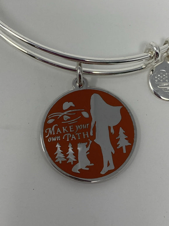 Disney Pocahontas Make Your Own Path Silver Alex and Ani Bracelet