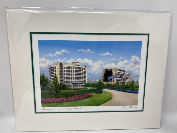 NEW Disney Parks CONTEMPORARY RESORT Larry Dotson Print NEW 11 X 14
