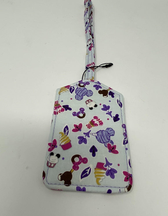 Disney Vera Bradley Luggage Tag Sweet Treat Ditsy - Pixiedust Shopper