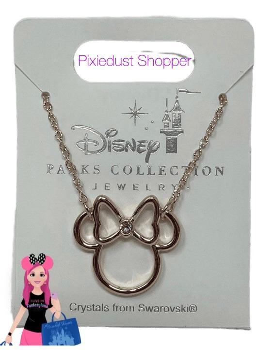 Disney Parks Jewelry Collection-Rose Gold Minnie Necklace