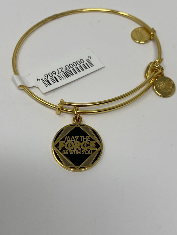 Disney Star Wars May the Force Be With You Gold Alex and Ani Bracelet
