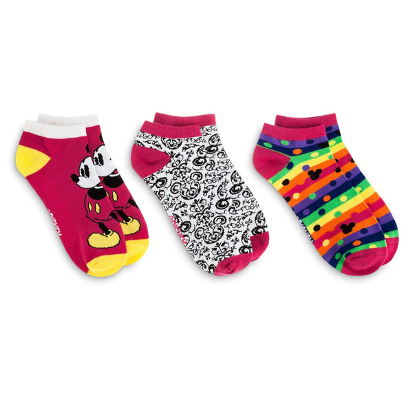 Disney Rainbow Mickey Socks 3-Pack