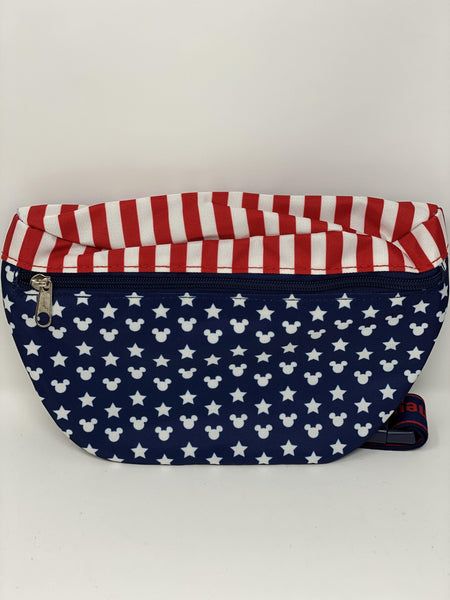 Disney World Red, White, Blue, Mickey Americana Waist Pouch Fanny Pack