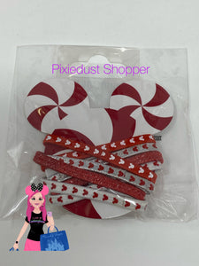Disney Mickey Red and White Ouchless Hair Ties