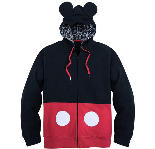 Disney I Am Mickey Mens Zip Up Hoodie Sweatshirt