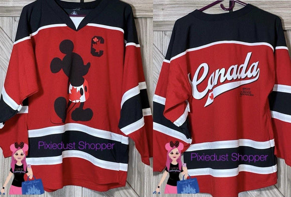 Disney Epcot Canada World Showcase Mickey Hockey Jersey
