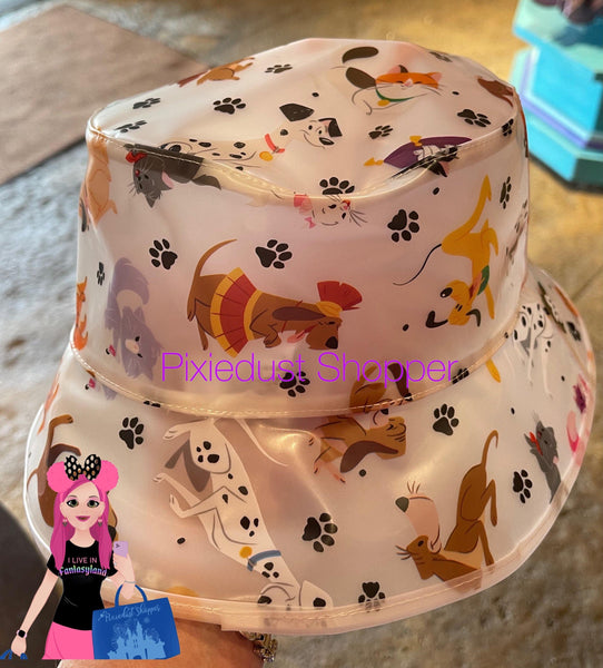 Disney Parks Reigning Cats and Dogs Rain Hat for Adults