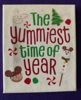 Disney The Yummiest Time of Year Snack Canvas Magnet
