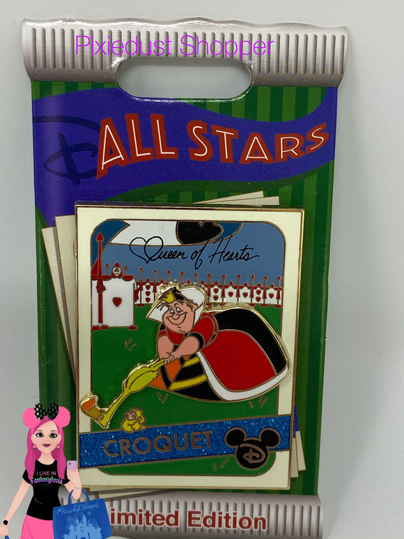 Disney All Stars Queen of Hearts Croquet Pin Limited Edition