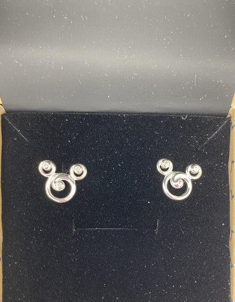 Disney Rebecca Hook Mickey Scroll Sterling Silver .925 Earrings