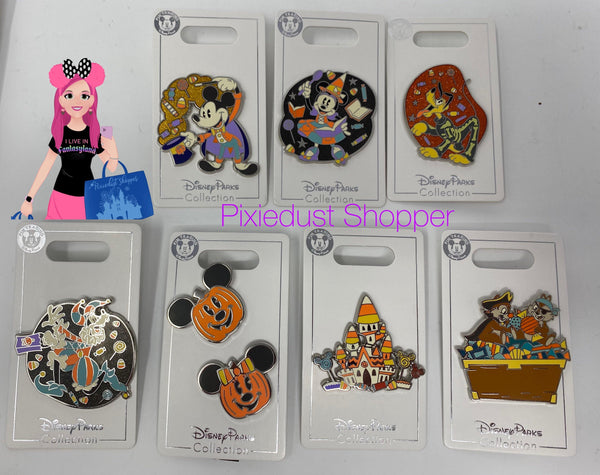 Disney Mickey, Minnie, Goofy, Pluto, Chip and Dale, or Halloween House Pin