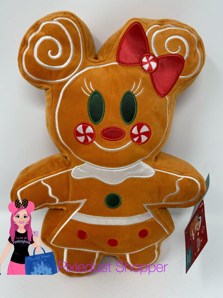 Disney Minnie Mouse Gingerbread Scented Plush Pillow– Small 12''