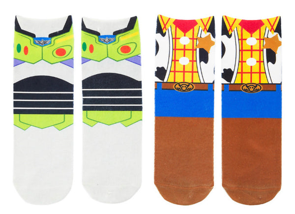 Disney Toy Story Youth Socks Large 2 Pack Buzz and Woody
