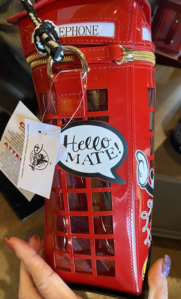 Disney Epcot UK Mickey Hello Mate Phone Booth Crossbody Purse