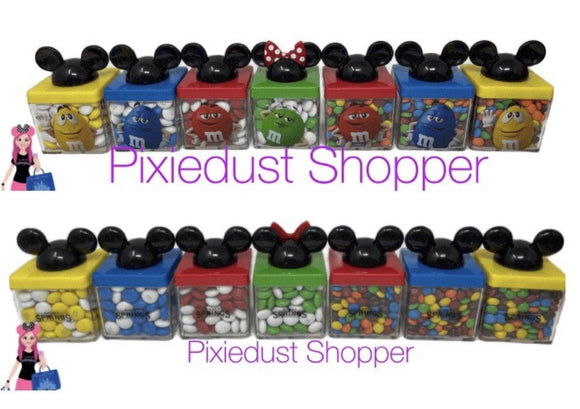 Disney Springs M&M Mickey or Minnie Mouse Cubes Filled with M&Ms - Pixiedust Shopper