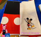 Disney Mickey and Minnie 2 Pack of Dish Hand Towels