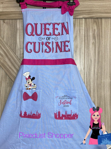 Disney Epcot Food and Wine Festival 2020 Queen of Cuisine Minnie Apron