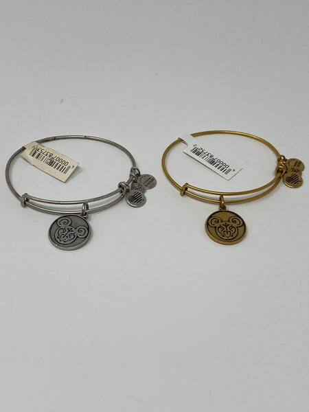 Disney Mickey Filagree Silver or Rose Gold Alex and Ani Bracelet