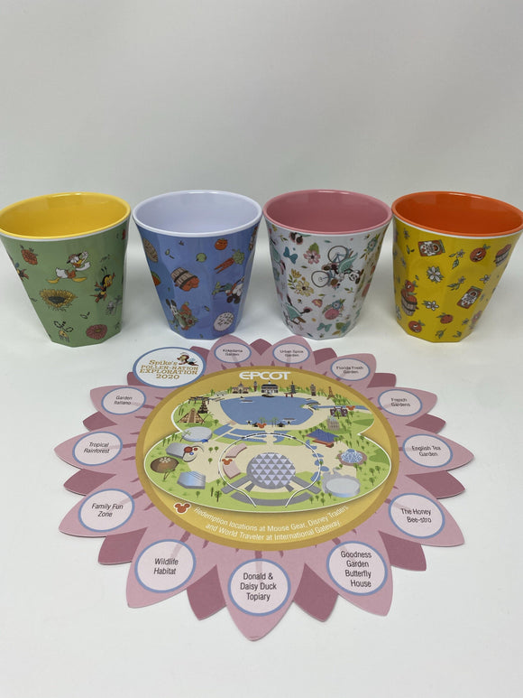 Disney Epcot 2020 Flower and Garden Festival Spike's Exploration Flower Pot/Cups