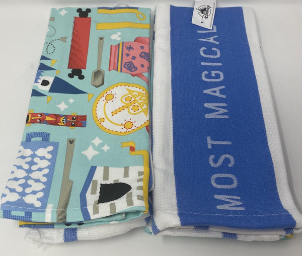 Disney The Most Magical Place on Earth 2 Pack Hand Towel Set