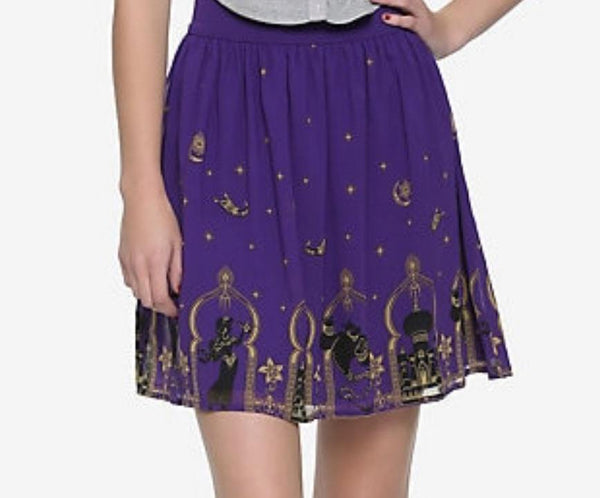 Disney Aladdin Agrabah Border Print Chiffon Skirt Small by Hot Topic