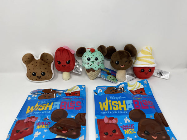 Disney Parks Food Mickey Bar, Sandwich, Dole Whip Food Series Wishables
