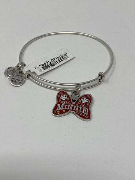 Disney Minnie Mouse Sweet and Cute Bow Silver Alex and Ani Bracelet