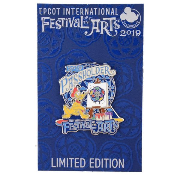 Disney 2019 Festival of the Arts Pluto Passholder Limited Edition Pin
