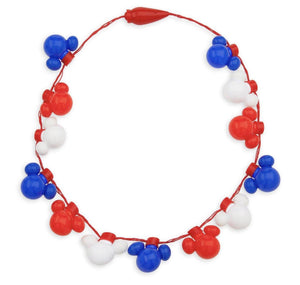 Disney Mickey Mouse Red, White, and Blue Americana Light Up Necklace
