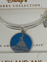 Disney Cinderella Believe In Every Wish Silver Alex and Ani Bracelet