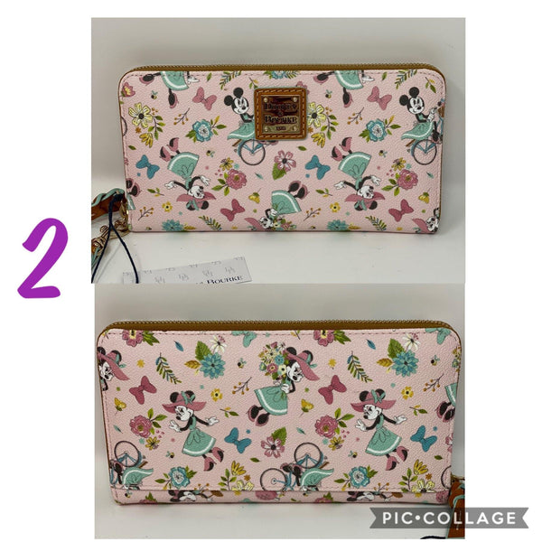 Disney Dooney & Bourke Epcot Flower and Garden Festival 2020 Minnie Mouse Wristlet Wallet