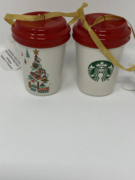 Disney Starbucks Holiday Tumbler Ornament