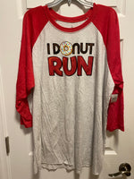 RunDisney I Donut Run Raglan Mens Unisex Shirt