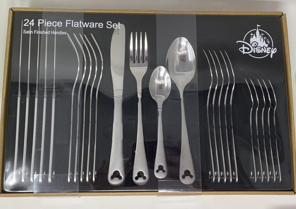 Disney 24 Piece Mickey Flatware Set