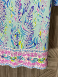 Lilly Pulitzer Ophelia Swing Dress Blue Oasis Tint Swim Shady Engineered Knit