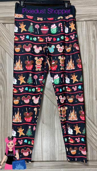 Disney Holiday Mickey and Minnie Snack Leggings