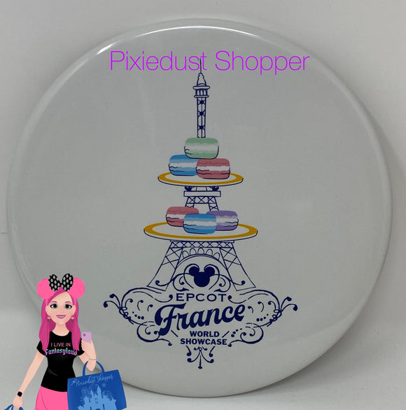 Disney Epcot France World Showcase Mickey Macaron Trivet-7""