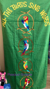 Disney Tiki Bird Beach Towel