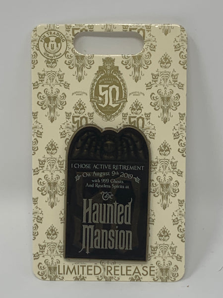 Disney Haunted Mansion 50th Anniversary August 9, 2019 Tombstone Pin-Limited Release