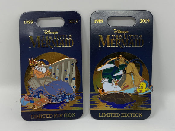 Disney Little Mermaid 30th Anniversary King Triton or Scully/Flounder LE Pin