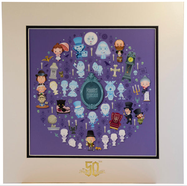 Disney Haunted Mansion of Cute by Jarrod Maruyama 50th Anniversary Print