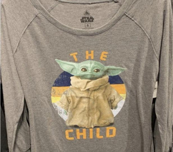 Disney Star Wars The Child Long Sleeve Ladies Shirt XXL