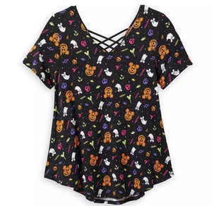 Disney Women's Shirt - Halloween Icons - Mickey Mouse